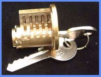 Picture of Cutaway 5 Pin Rim Cylinder Practice Lock