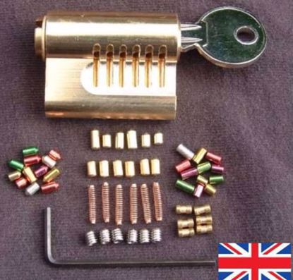Picture of Cutaway  Repinnable 6 Pin Euro with 30 Extra Assorted Pins