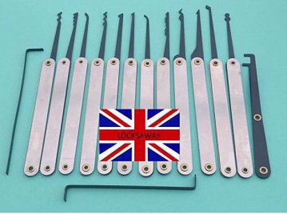 Picture of 15 Piece Set of Lock Picks and Tensioners  plus Case